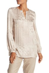 Lafayette 148 New York Lolita Silk Blouse Raffia Multi