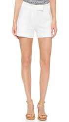 Veronica Beard Tropicana Tailored Shorts White