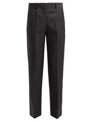 Masscob Cleo Prince Of Wales Checked Wool Blend Trousers Grey