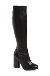 Jeffrey Campbell 'Sequel Hi' Tall Boot Women Black Stretch Leather