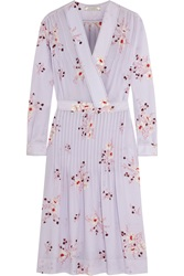 Nina Ricci Floral Print Silk Crepe De Chine Dress