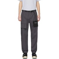 Palm Angels Grey Two Tone Cosy Cargo Pants