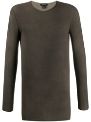 Avant Toi Crew Neck Sweatshirt Brown