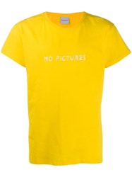 Nasaseasons No Pictures Embroidered T Shirt Yellow