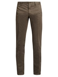 Incotex Slim Fit Cotton Blend Chino Trousers Charcoal