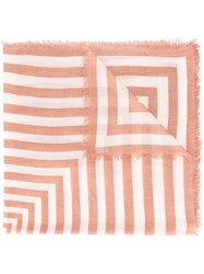 Closed Striped Scarf Pink Purple
