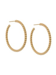 Isabel Lennse Xl Twisted Hoop Earrings Gold