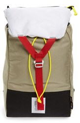Topo Designs Men's 'Y Pack' Backpack Grey Cave Red