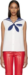 Marc Jacobs White And Navy Sailor Blouse