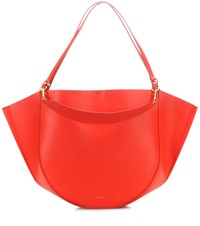 Wandler Mia Leather Tote Red