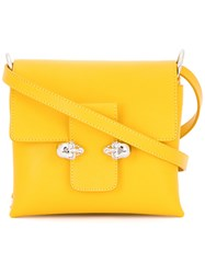 Alexander Mcqueen Skull Lock Satchel Yellow Orange