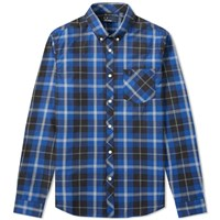 Fred Perry Tartan Check Pocket Shirt Blue