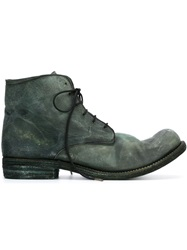 A Diciannoveventitre Distressed Lace Up Ankle Boots Grey
