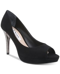 Nina Faiza Peep Toe Evening Pumps Women's Shoes Black
