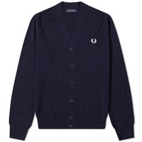 Fred Perry Authentic Merino Cardigan Blue