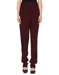 Pedro Del Hierro Trousers Casual Trousers Women Maroon