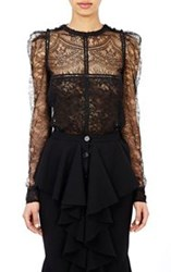 Givenchy Netted Lace Blouse Black