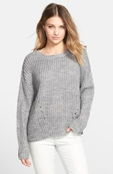 Junior Women's Element 'Farewell' Sweater Grey Heather