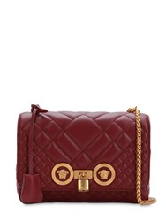 Versace Icon Medium Quilted Leather Shoulder Bag Anemone