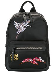 Lanvin Embroidered Bird Backpack Black