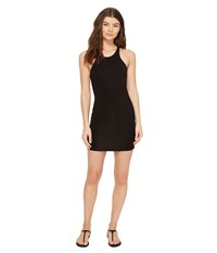Mikoh Honolua High Neck Sporty Fit Mini Dress Night Women's Dress Black