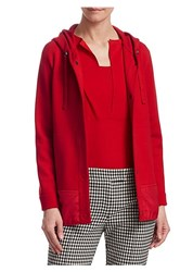 Akris Punto Drawstring Trench Coat Lipstick