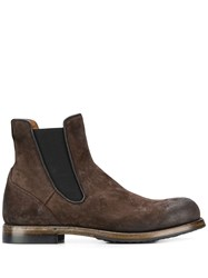 Silvano Sassetti Elasticated Side Panel Boots Brown