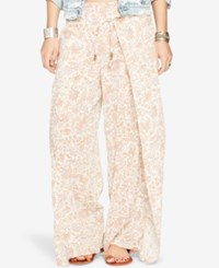 Denim And Supply Ralph Lauren Wide Leg Floral Print Pants Camilla Leaf Floral