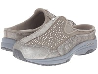 Easy Spirit Traveltime Silver Multi Suede Women's Clog Shoes