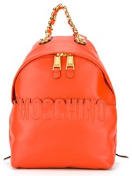 Moschino Embossd Logo Backpack