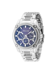 Police Mesh Up Watch Silver