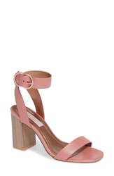 Ted Baker London Vallama Block Heel Sandal Pink Leather