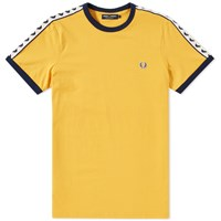 Fred Perry Taped Ringer Tee Yellow