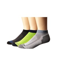 Wigwam Merino Rigge Runner Pro Low 3 Pack Grey Lime Macaw Charcoal Crew Cut Socks Shoes Multi