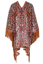 Aztec Print Poncho By Jaded London Multi