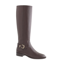 J.Crew Lowell Buckle Boots Chocolate