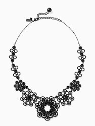 Kate Spade Crystal Lace Necklace Black