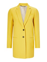 Jigsaw Chip Rever Compact Coat Yellow