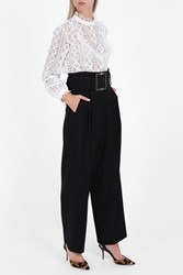 Adam By Adam Lippes Women S Cropped Belted Trousers Boutique1 Black