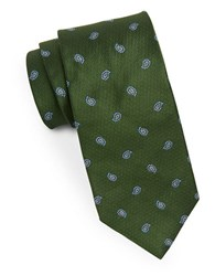 Brooks Brothers Patterned Silk Tie Green