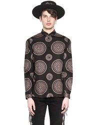 April 77 Psychedelic Printed Fine Corduroy Shirt