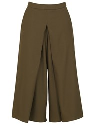 Izabel London Midi Length Culotte Trousers Khaki