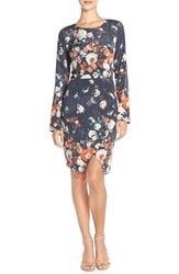 Women's Charlie Jade Floral Silk Sheath Dress