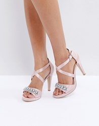 Head Over Heels By Dune Maisy Embellished Heeled Sandals Pink