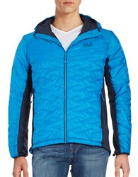 Jack Wolfskin Tundra Quilted Puffer Jacket Brilliant Blue