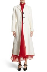 Beaufille 'S Rhodes Swirl Jacquard Trench Coat Off White