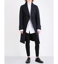 Burberry Relaxed Fit Cashmere Blend Peacoat Navy