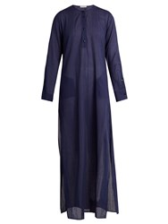 Palmer Harding Long Sleeved Maxi Kaftan Navy