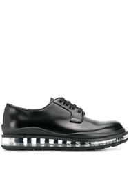 Prada Transparent Sole Brogues Black