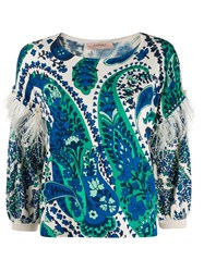 Twin Set Feather Trim Knitted Top 60